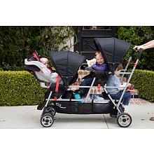"Joovy Big Caboose Stand-On Tandem Triple Stroller - Appletree - JOOVY - Babies ""R"" Us"