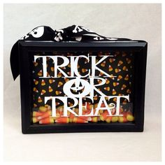 Trick or Treat Shadow Box by BlocksPaperPaint on Etsy, $20.00