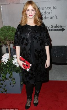 Diamond in the rough: Christina Hendricks looked a million dollars at the opening of a jew...