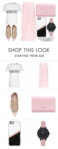 """""""Feminist"""" by mollie-simmonds ❤ liked on Polyvore featuring Tee and Cake, Anine Bing, Valentino, Givenchy, Casetify and Olivia Burton"""
