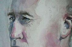 man portrait detail, watercolor, akwarela, www.farbawodna.blogspot.com