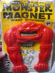 Wham-O Monster Magnet on card.