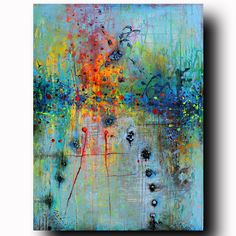 Acrylic on gallery stretched 3/4 thick bars canvas stapled in the back ORIGINAL…