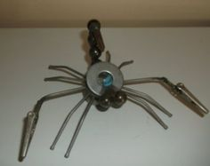 Praying Mantas Metal Sculpture by Creationswelded on Etsy