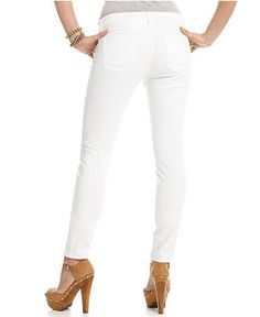 GUESS? Jeans, Brittney Skinny Leg White Wash - Juniors Shop All Guess Apparel - Macy's