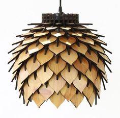 Spore Lamp Laser Cut Pendant Lamp Lighting by TerraformDesigns