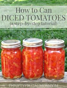 This easy step-by-step photo tutorial will have you saving money and canning you. - This easy step-by-step photo tutorial will have you saving money and canning your own diced tomato - Home Canning Recipes, Canning Tips, Pressure Canning Recipes, Dinner Recipes, Garden Canning Ideas, Tomato Canning Ideas, Kitchen Recipes, Canning Food Preservation, Preserving Food