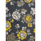 Room Essentials® Flat Woven Floral Area Rug - Gray/Yellow (5'x7') Quick Information