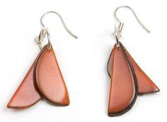 Tagua Fragments Eco Friendly Earrings, orange  Price : $18.00 http://www.enloops.com/Tagua-Fragments-Friendly-Earrings-orange/dp/B009I9HWIW