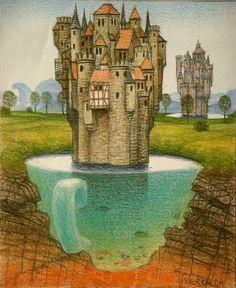 El otro lado del castillo - Jacek Yerka · 2004