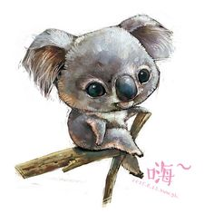 ANIMALS_watercolor [duitang]-koala 02