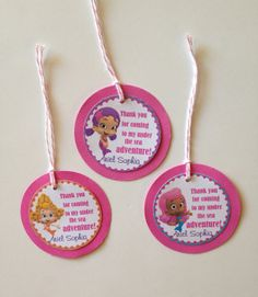 Bubble Guppies Custom Birthday Party Thank you Gift Tags