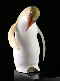 Penguin by Rex Homan, Abstract Sculpture, Sculpture Art, Maori Patterns, Aquatic Birds, Penguin Art, New Zealand Art, Maori Art, Southwest Art, Native Art