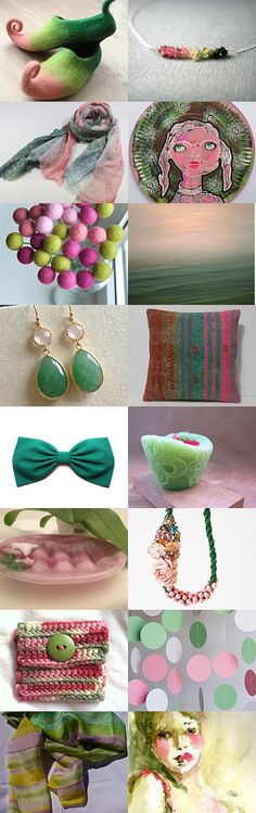 unusual pink green by Ivana Kristina on Etsy--Pinned with TreasuryPin.com