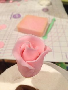 Second round, use 3 petals. Make sure to insert the end of third petal under the first petal