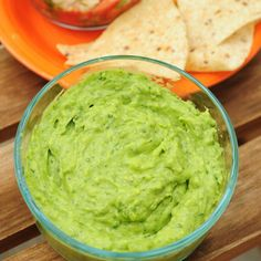 """Edamame """"Guacamole"""" Makes 6 servings  2 cups shelled edamame beans 2 Tbsp lime juice 3 garlic cloves, minced 1/4 cup red onion, diced 1/2 c..."""