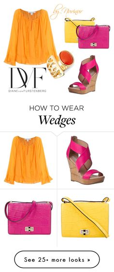 """COLORS in your closet"" by nurinur on Polyvore featuring Diane Von Furstenberg"