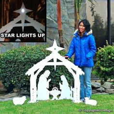 Amazon.com - Giant Outdoor Nativity Scene - Large Christmas Yard Decoration Set With Solar Light!