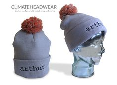 Just what the client wanted! Simple but stylish beanies.