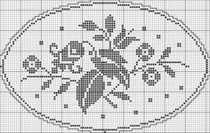 Oval 08 | Free chart for cross-stitch, filet crochet | Chart for pattern - Gráfico