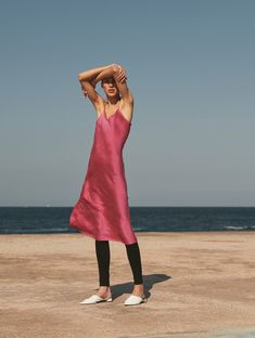 In our four years as a brand, our aim has been to design timeless pieces that are adaptable and long lasting. We created our Silk Slip dress to fill the needs of the modern woman who is fashion-forward and environmentally-conscious. Silk Slip, Summer Time, Fashion Forward, Fill, Campaign, Cute Outfits, Woman, Modern, People