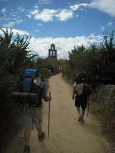 Walking the El Camino, Spain, in 2011.
