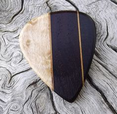 Handmade Multi-Wood Premium Guitar Pick - Actual Pick Shown - No Stock Photos - Artisan Guitar Pick