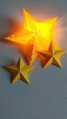 Diy Crafts Hacks, Diy Home Crafts, Diy Arts And Crafts, Fun Crafts, Christmas Crafts, Christmas Decorations For Kids, Christmas Origami, Ramadan Decorations, Graduation Decorations
