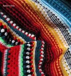 Blanket: crochet blanket pattern, afghan, multicolor Serape Stripe Blanket on Etsy, $5.53 AUD