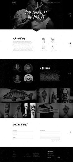 Tattoo web design