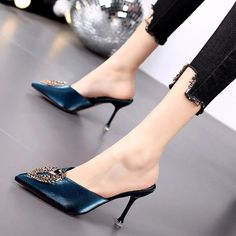 Buy, Casual Pointed Comfort Sole High Heel Women Summer Shoes are available at 4colordress.com! Now, $29.99 & Free Shipping. #Square #High #Heel #Open #Toe #Summer #Women #Shoes Womens Summer Shoes, Womens High Heels, Casual Sneakers, Casual Shoes, Fashion Heels, Pu Leather, Stiletto Heels, Autumn, Elegant