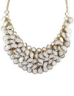 Collar cadena dorado flecos vidrio-Sheinside