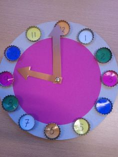 Clock project for school - Kids Crafts, Bunny Crafts, Preschool Crafts, Diy And Crafts, Math Projects, Craft Projects For Kids, School Projects, Diy For Kids, Action Games For Kids