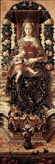"""Crivelli, Carlo - The Madonna of the Taper - Renaissance (Early Italian, """"Quattrocento"""") - Saints - Oil on wood"""