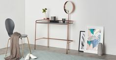 Alana dressing table in copper. Made. Living Room Decor, Bedroom Decor, Bedroom Ideas, Bedroom Furniture, Filigranes Design, Design Ideas, Ikea, Best Home Interior Design, Bungalow Renovation