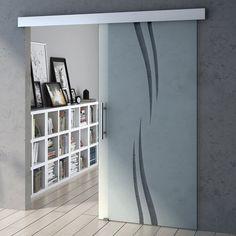 Amalfi Sliding Glass Door Soft Close - Vertical Swirls