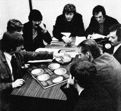 The Moody Blues preparing for their new LP, Days Of Future Past, 1967.