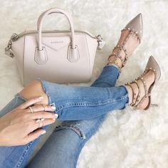givenchy + valentino rockstud heels