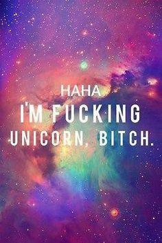 unicorn, bitch, and galaxy image