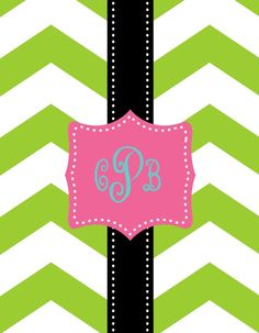 I love monograms! Best new app for iPhone! It's called wallaboutyou only cost 1.99 and unlimited monograms! That you can share! I downloaded it and instantly loved my iPod a little better. Because we all love monograms