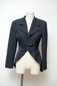 Vintage 80s Yojhi Yamamoto Black Tuxedo Blazer with Tails Tailored Size small womens size xs small size 2- 4 by recollectionla on Etsy