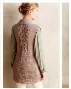 Anthropologie-Knitted-Knotted-Taupe-Sleeveless-Lace-Trim-Sweater-Vest-Size-XS