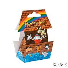 """""""Noah's Ark""""-Shaped Treat Boxes, Paper Favor Boxes, Party Bags & Containers, Party Favors, Party Supplies - Oriental Trading"""