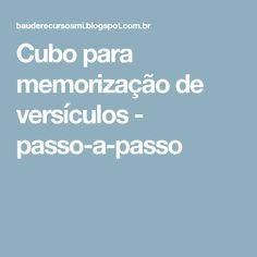 Cubo para memorização de versículos - passo-a-passo