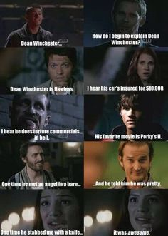 Supernatural everybody loves Dean Winchester