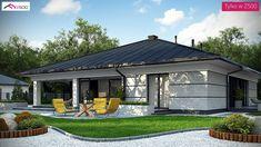 Z378 D to wyjątkowy dom z kategorii projekty domów drewnianych Simple House Design, Modern House Design, Home Building Design, Building A House, 4 Bedroom House Designs, Casa Top, House Plans Mansion, Spanish Style Homes, Village Houses