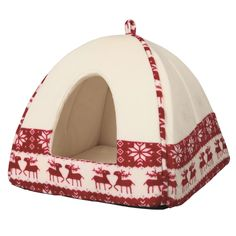 Trixie Christmas Santa Cuddly Cave Suitable For Small Dogs and Cats -- Want additional info? Click on the image. #CatBedsandBlankets