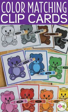 Kids will enjoy this hands-on color matching activity. Great for categorizing, sorting, and fine mot Bear Theme Preschool, Preschool Colors, Preschool Centers, Preschool Themes, Math Centers, Lesson Plans For Toddlers, Kindergarten Lesson Plans, Toddler Themes, Toddler Activities
