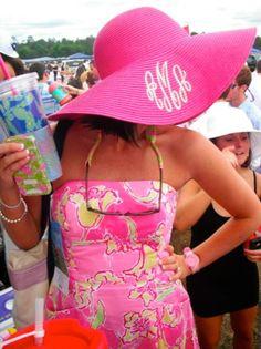 Carolina Cup Style! #prep #monogram #lilly #Pulitzer