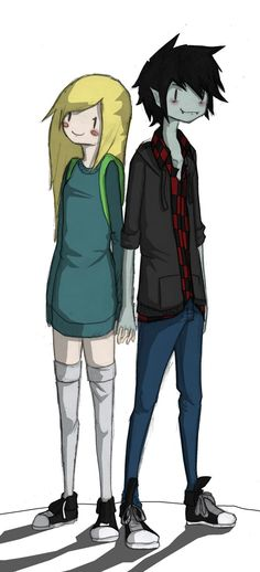 Marshall lee and Fiona by Pistachi on DeviantArt